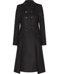 Proenza Schouler Double Breasted Wool Blend Gabardine Coat
