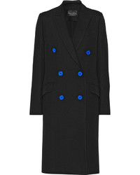 Proenza Schouler Double Breasted Wool Blend Twill Coat