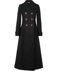Miu Miu Double Breasted Wool Felt Coat
