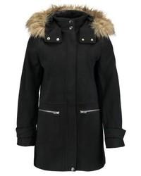 New Look Duffle Short Coat Black