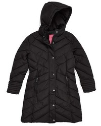 Weatherproof Girls Hooded Walking Coat Size 6x Black