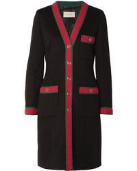 Gucci Grosgrain Trimmed Wool Coat