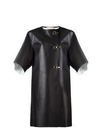 Marni Hook And Eyelet Leather Coat