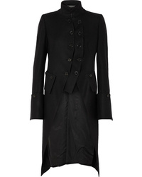 Ann Demeulemeester Layered Double Breasted Wool Coat