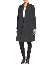 Eileen Fisher Lightweight Shawl Collar Organic Cotton Blend Long Coat
