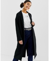 Monki Lightweight Tailored Coat In Black