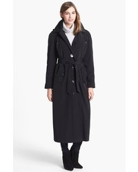 London Fog Long Trench Coat With Detachable Hood Liner
