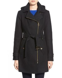 MICHAEL Michael Kors Michl Michl Kors Belted Wool Blend Coat With Detachable Hood
