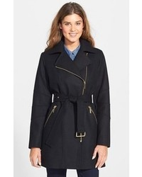 MICHAEL Michael Kors Michl Michl Kors Michl Michl Belted Moto Wool Blend Coat