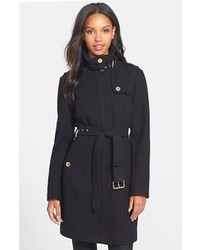 MICHAEL Michael Kors Michl Michl Kors Stand Collar Wool Blend Trench Coat