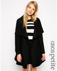 Asos Petite Skater Coat With Funnel Neck