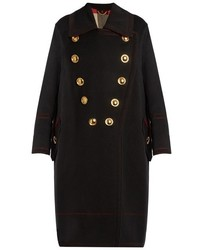 Burberry Prorsum Double Breasted Wool And Cashmere Blend Coat