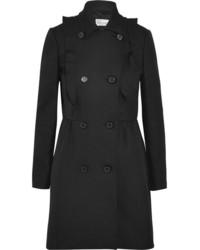 RED Valentino Redvalentino Ruffled Cotton Twill Coat Black