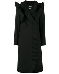 MSGM Ruffled Double Breasted Coat