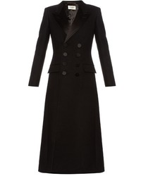 Saint Laurent Le Smoking Babydoll Wool Coat