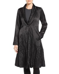 Eileen Fisher Satin Shawl Collar Coat