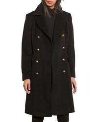 Lauren Ralph Lauren Skirted Wool Blend Military Coat
