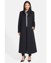 Fleurette Stand Collar Loro Piana Wool Long Coat