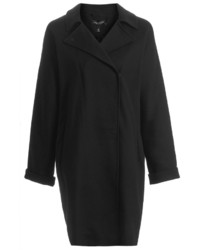 Topshop Tall Duster Coat In Heavyweight Fabric With Popper Fastening 96% Cotton 4% Elastane Machine Washable