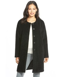 Eileen Fisher Wool Alpaca Blend Collarless Coat