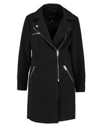 New Look Zip Formal Biker Short Coat Black