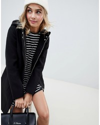 ASOS DESIGN Zip Through Coat With Hood