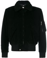 Black Corduroy Bomber Jacket