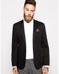 Asos Brand Skinny Blazer In Jersey