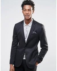 Asos Brand Super Skinny Blazer In Jersey In Black