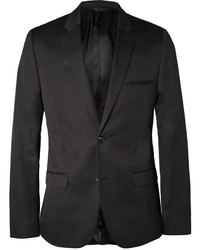 Calvin Klein Collection Black Crosby Slim Fit Cotton And Silk Blend Suit Jacket