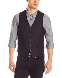 Black Cotton Waistcoat
