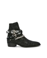Amiri Glitter Ankle Boots