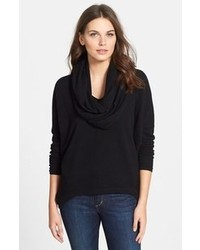 Nordstrom Collection Rib Knit Back Cashmere Cowl Neck Pullover