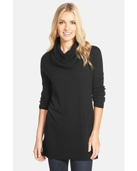 Petite caslon side slit cowl neck tunic medium 353647