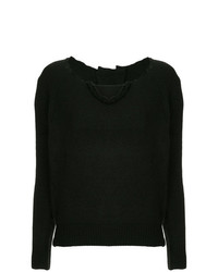 Uma Wang Distressed Neck Jumper
