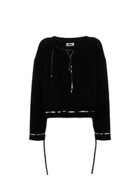 MM6 MAISON MARGIELA Sequin Trimmed Fleece Jumper