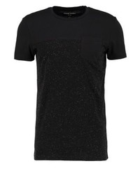 YOURTURN Print T Shirt Black