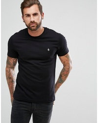 Original Penguin Small Logo T Shirt Slim Fit In Black