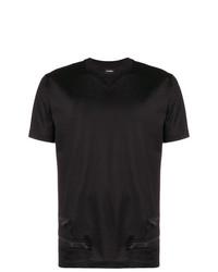 Les Hommes Zipper Detail T Shirt