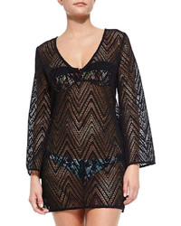 Black Crochet Cover-up