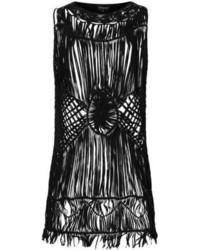 Topshop Black Macrame Vest