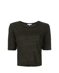 Venroy Crew Neck Cropped T Shirt