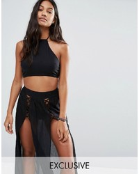 Wolfwhistle Wolf Whistle Lattice Crop Beach Top Co Ord