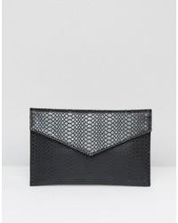 Asos Croc Envelope Cross Body Bag