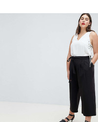 Asos Curve Design Curve Mix Match Culotte With Tie Waist
