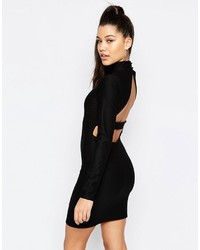 Missguided Cut Out Back Bodycon Dress