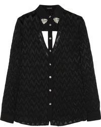 Versace Cutout Devor Silk Shirt