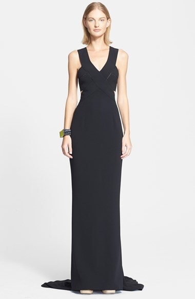 Stella Mccartney Cutout Detail Stretch Cady Gown Where To Buy