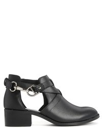 Asos Collection Apollo Leather Cut Out Ankle Boots