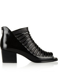 3.1 Phillip Lim Dede Open Toe Leather Ankle Boot
